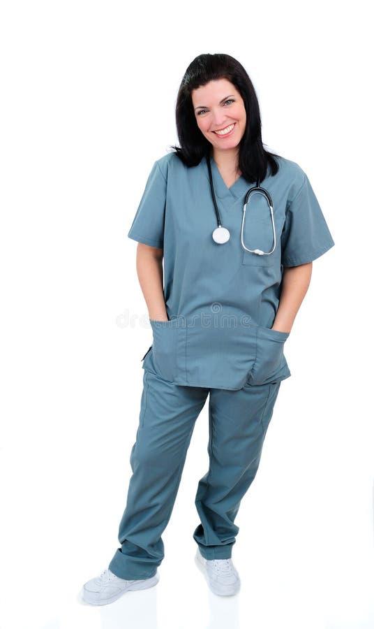 sjukhussjuksköterska royaltyfri foto