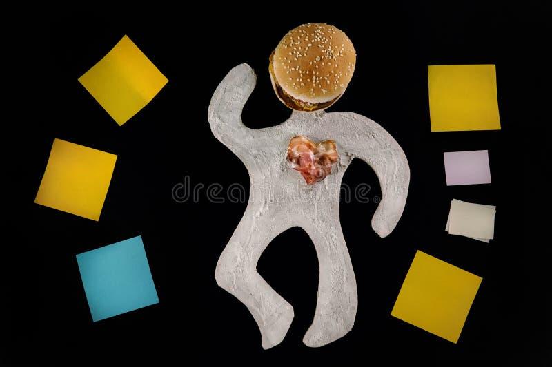 Sjuklig matfara medvetenheten arkivfoton