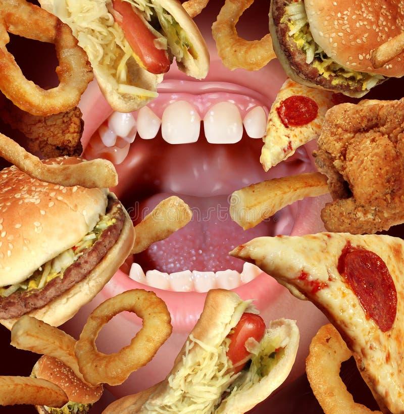 Sjukligt äta royaltyfri illustrationer
