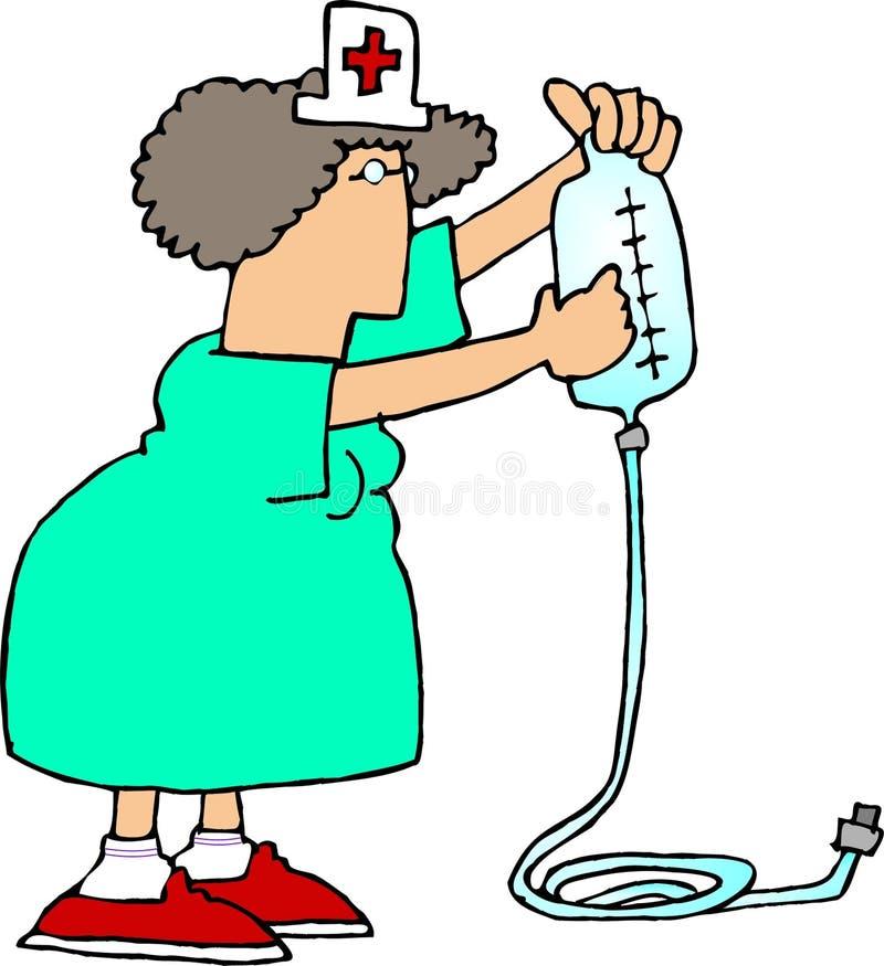 sjuksköterska för iv 2 royaltyfri illustrationer