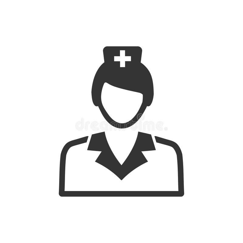 Sjuksköterska Icon stock illustrationer