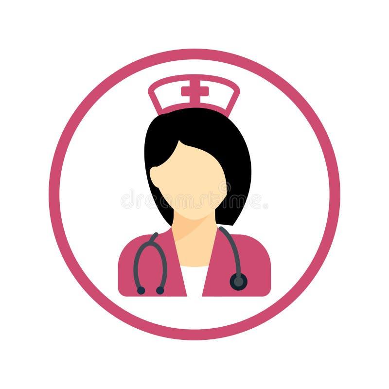 Sjuksköterska Icon royaltyfri illustrationer