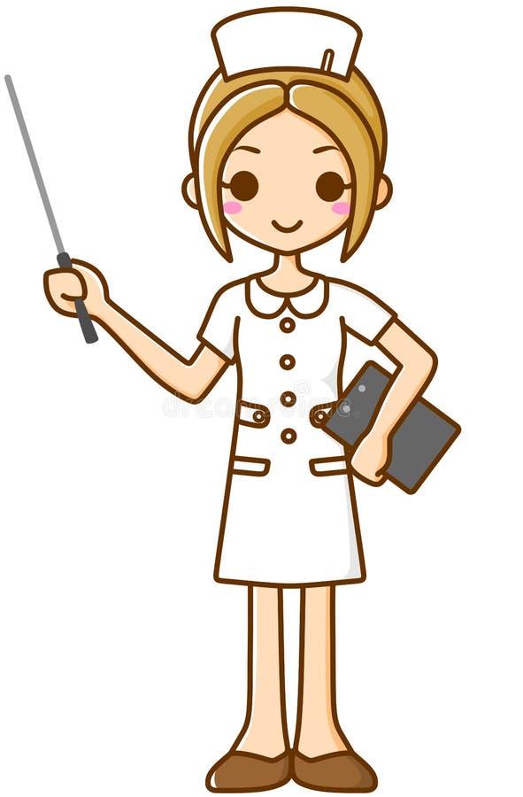 Sjuksköterska med en stick vektor illustrationer