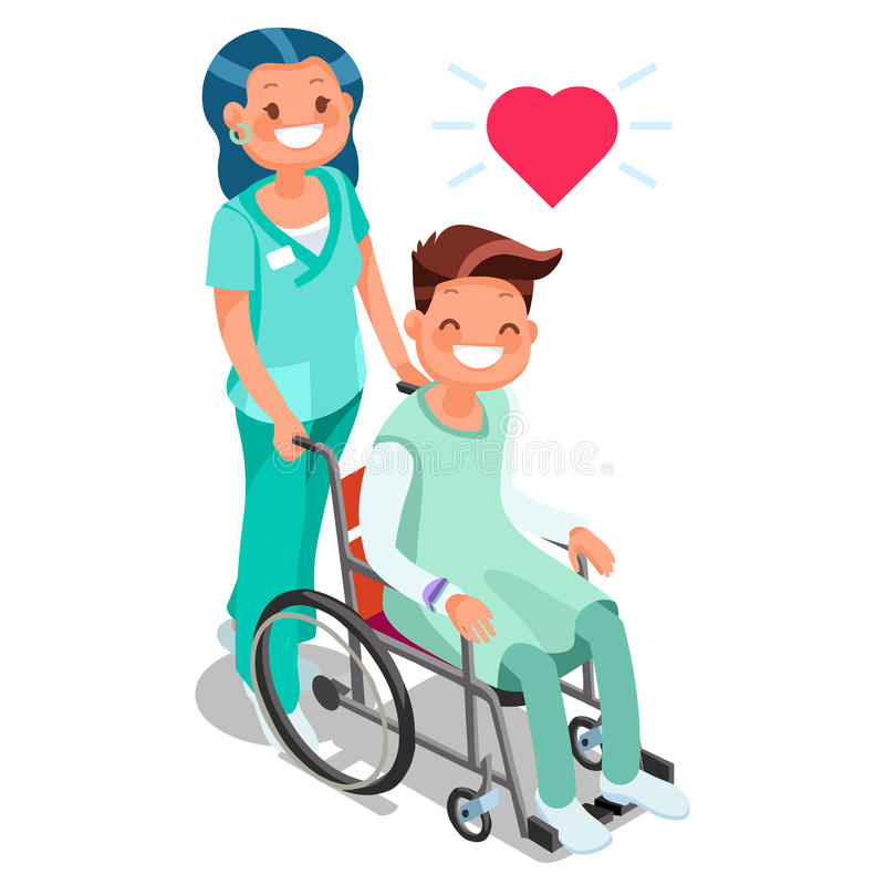 Dejta en flicka i en rullstol