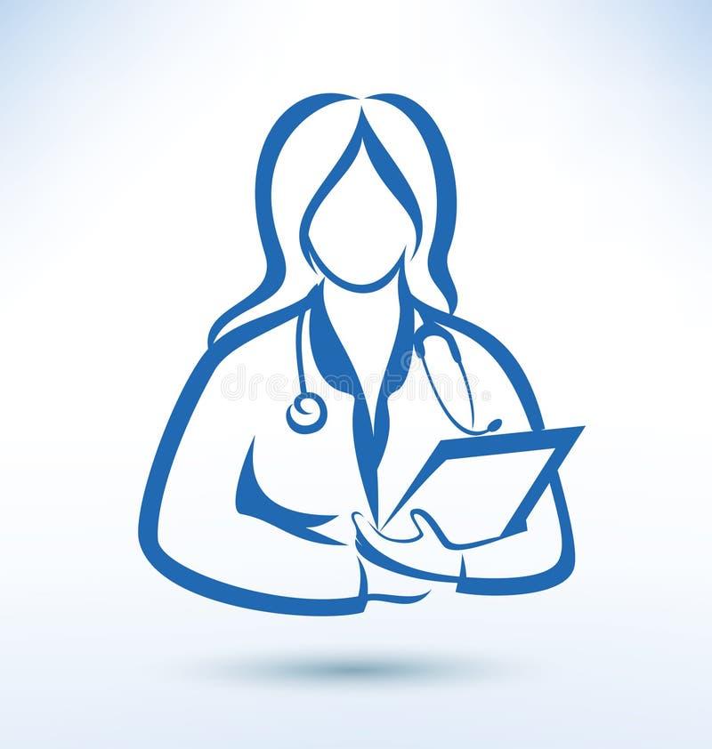 Sjuksköterska medicinsk arbetare vektor illustrationer