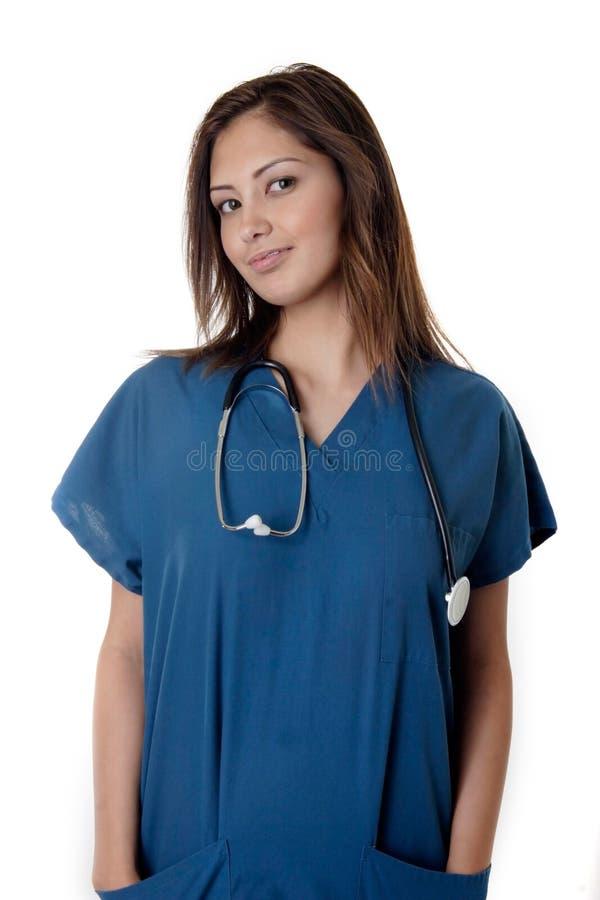 sjuksköterskabarn arkivfoto
