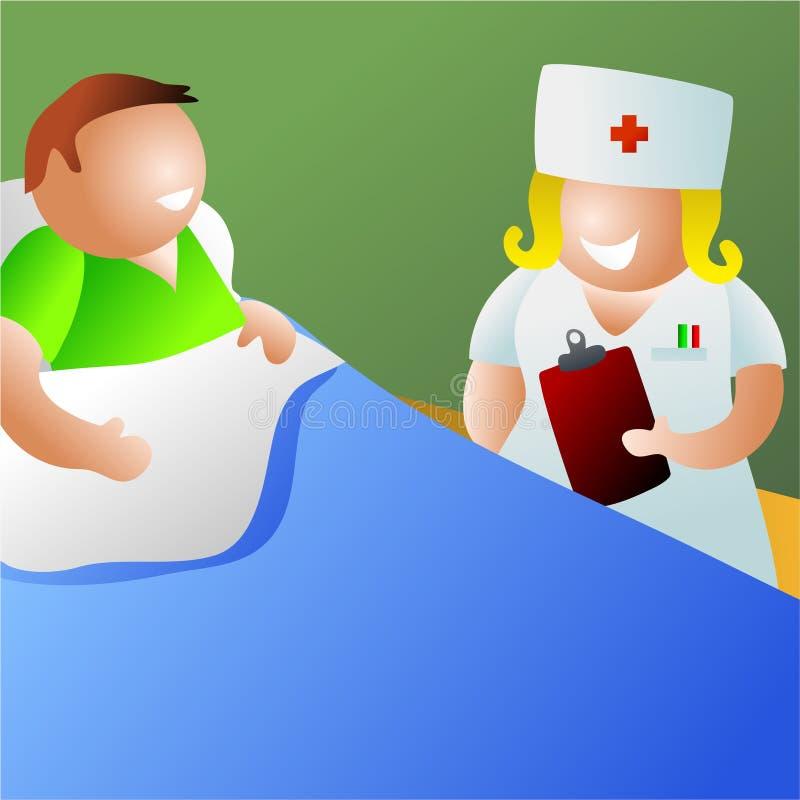 sjuksköterskan avvärjer vektor illustrationer