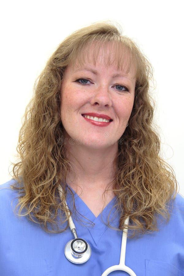sjuksköterskan skurar royaltyfria foton