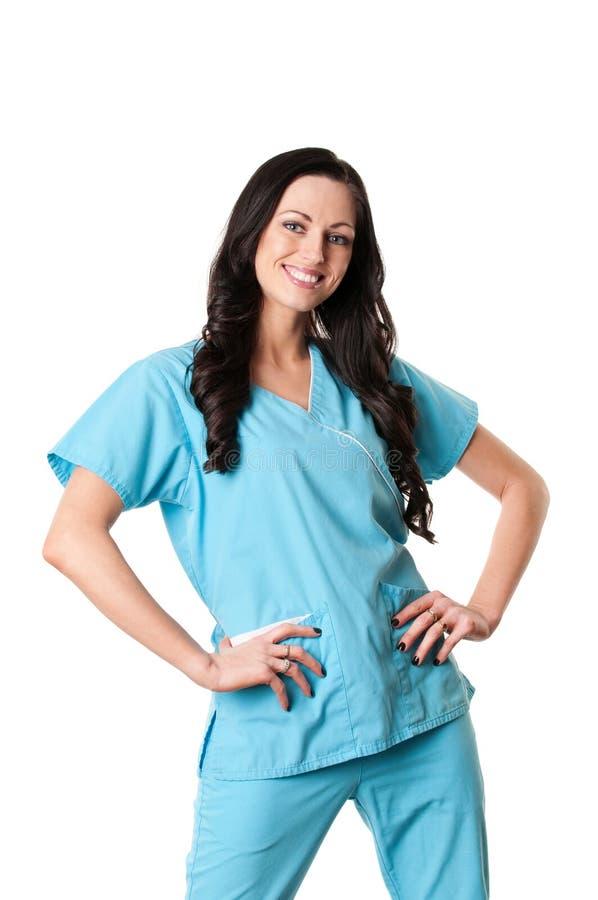 sjuksköterskan skurar royaltyfri foto