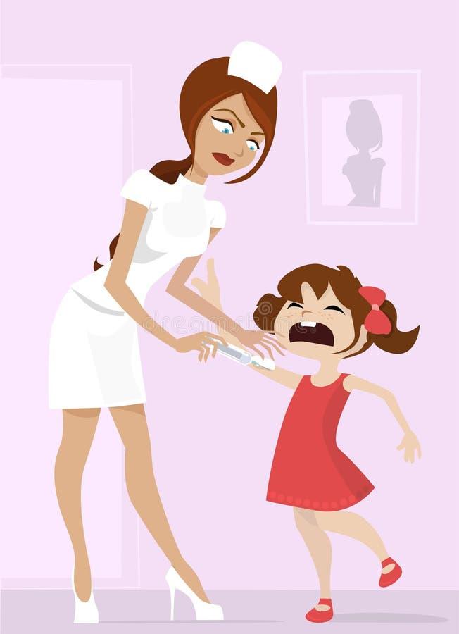 sjuksköterskaschoolgirl stock illustrationer