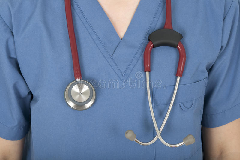 sjuksköterskastetoskoplikformig arkivfoton
