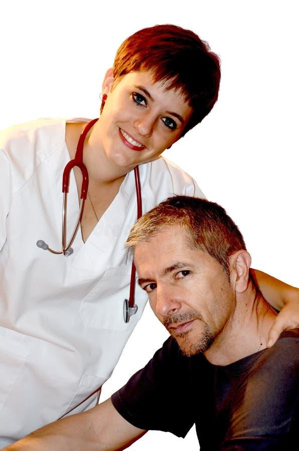 sjuksköterskatålmodig fotografering för bildbyråer