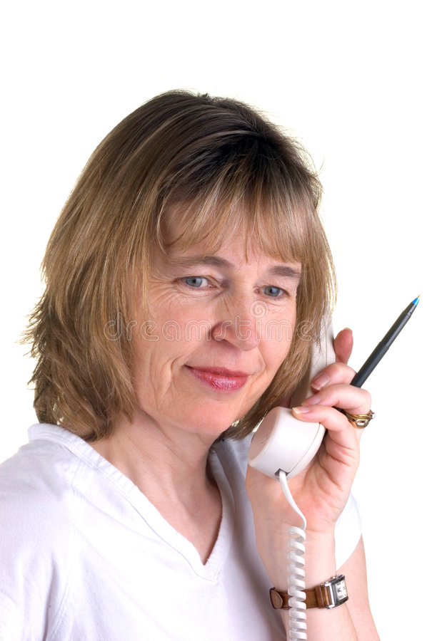 sjuksköterskatelefon royaltyfria foton