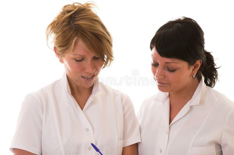 sjuksköterskor två arkivbilder