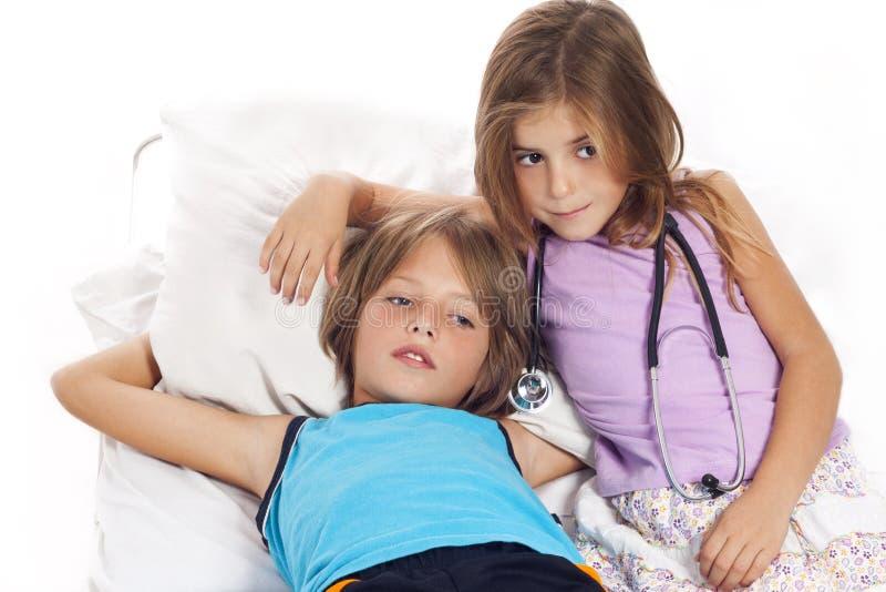 sjukt barn royaltyfria foton