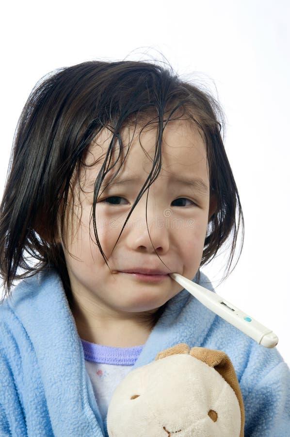 Download Sjukt barn arkivfoto. Bild av undersök, termometer, förhindrande - 4257208