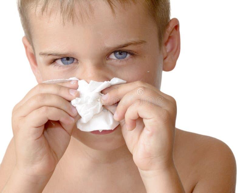 sjukt barn för pojke arkivfoton
