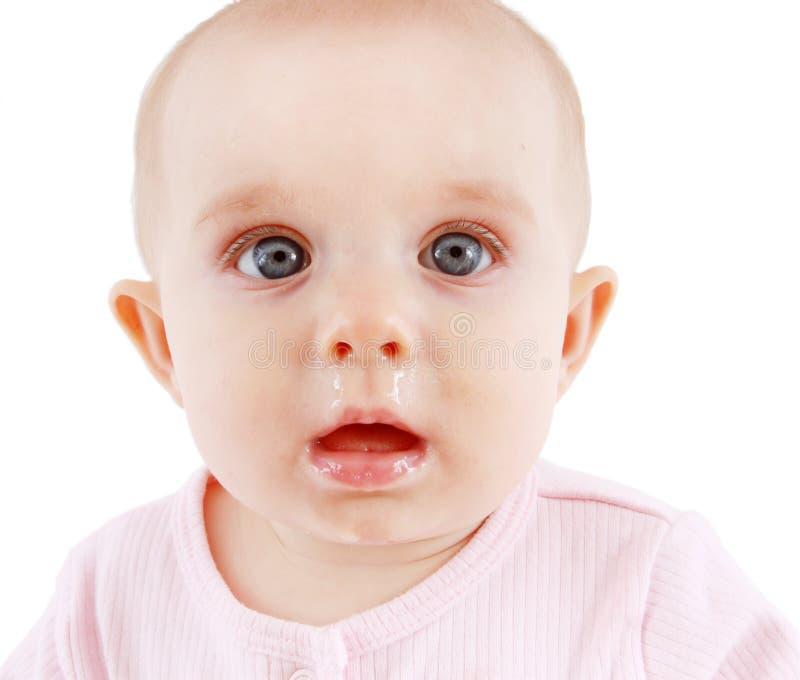 Sjukt behandla som ett barn med en runny näsa royaltyfri fotografi