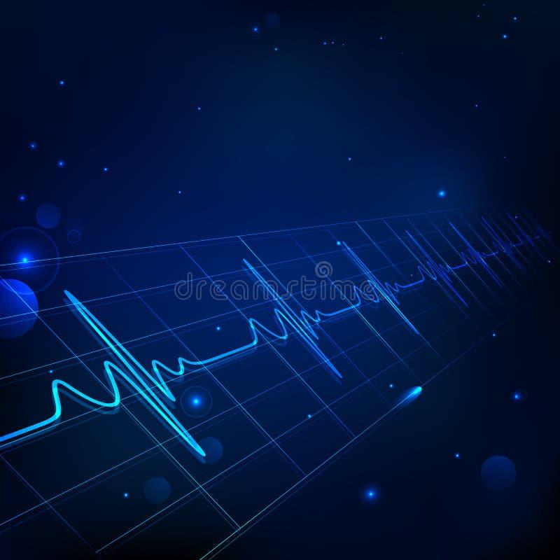 Sjukvård och läkarundersökning stock illustrationer