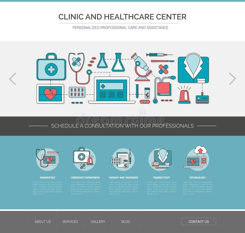 Sjukvård- och medicinrengöringsdukmall royaltyfri illustrationer