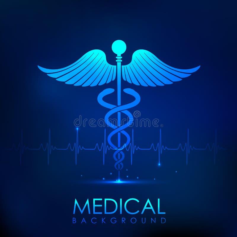 Sjukvård och medicinsk bakgrund royaltyfri illustrationer