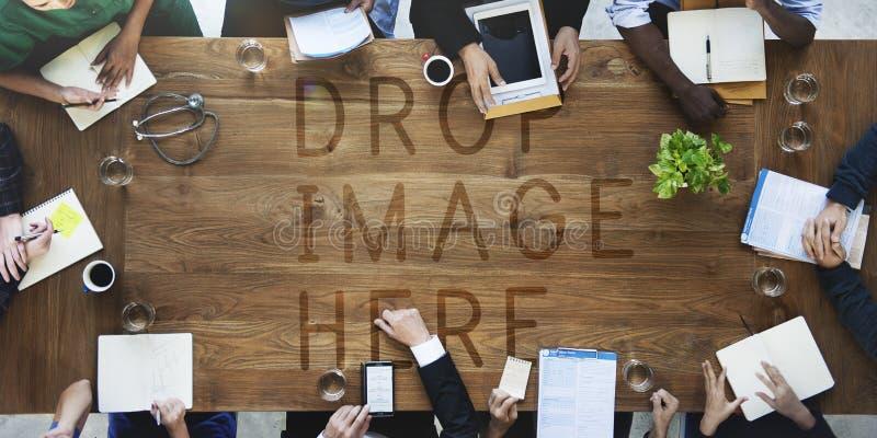 Sjukvårdbegrepp för doktor Meeting Teamwork Diagnosis royaltyfri fotografi