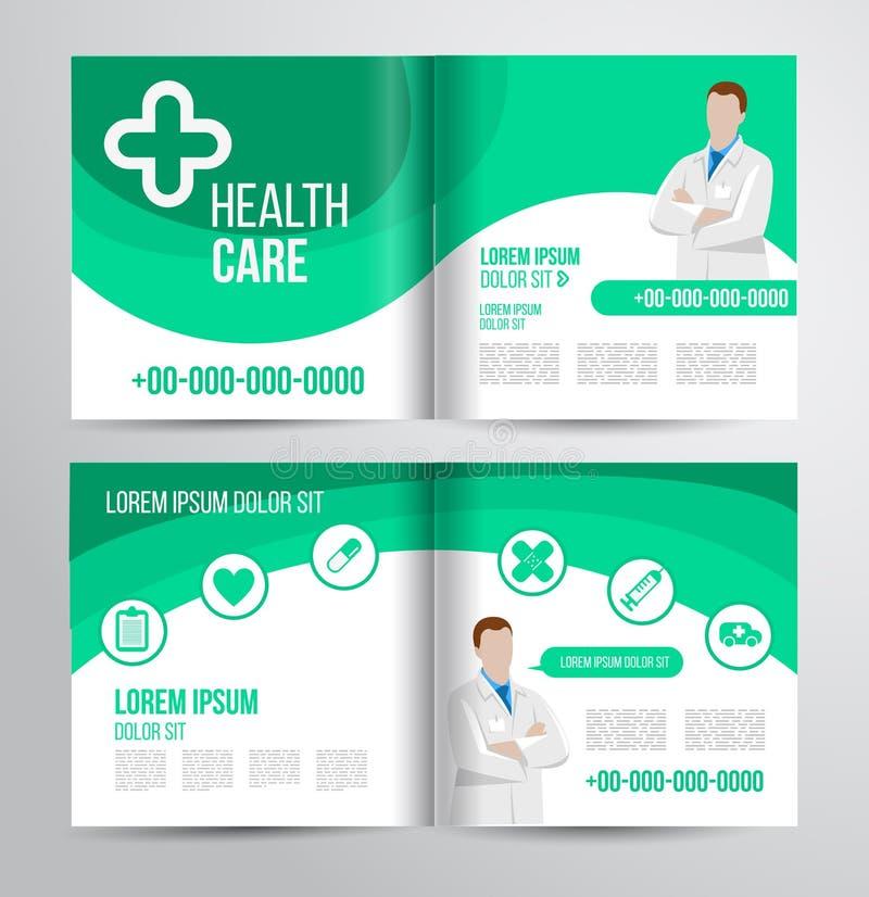 Sjukvårdbroschyr vektor illustrationer