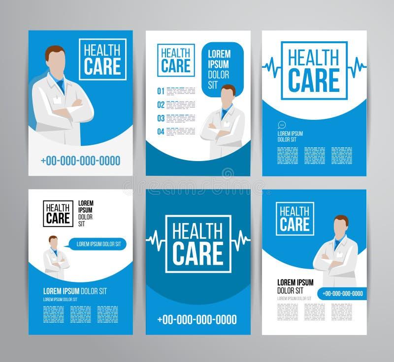 Sjukvårdbroschyr stock illustrationer
