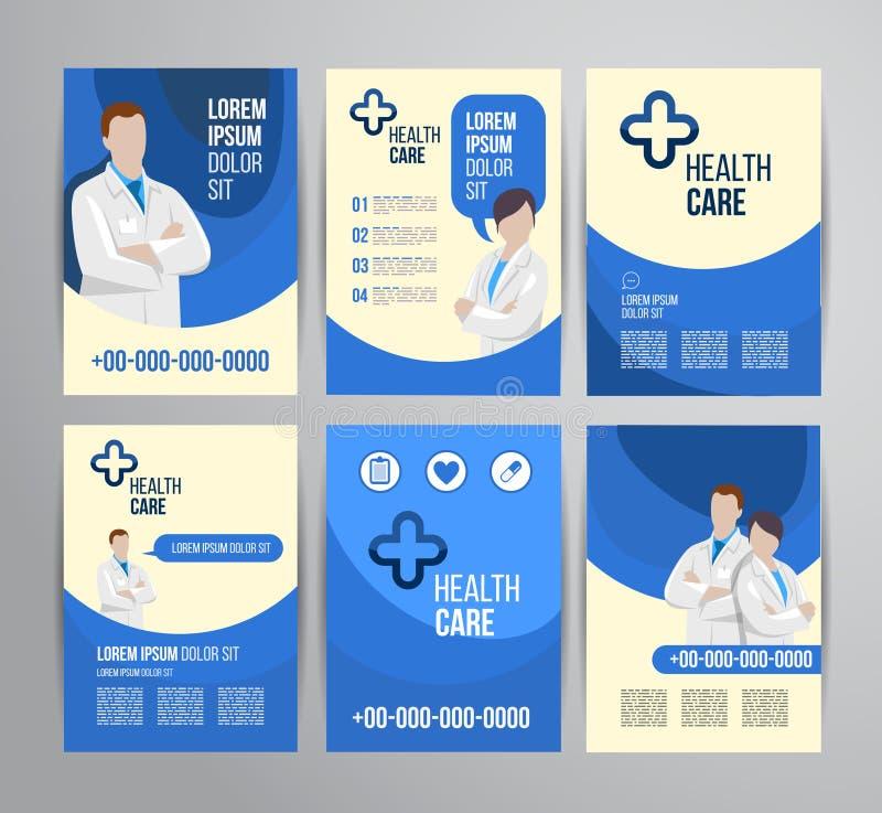 Sjukvårdbroschyr royaltyfri illustrationer