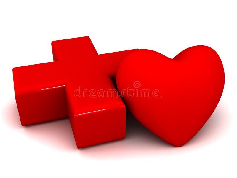 sjukvårdhjärta vektor illustrationer