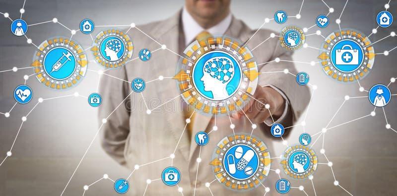 SjukvårdIT-administratör Activating AI via IoT arkivbilder