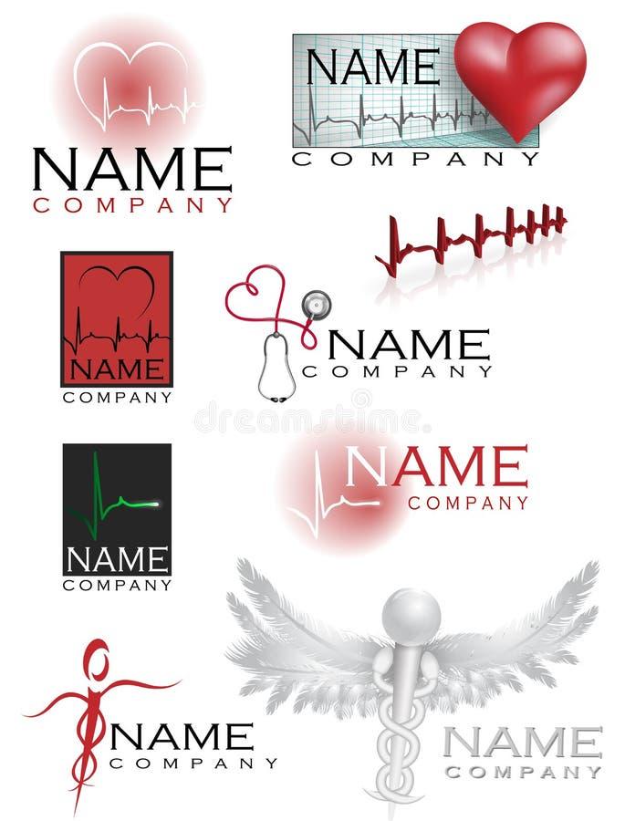 sjukvårdlogoer vektor illustrationer