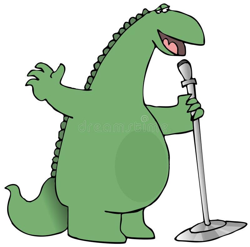 sjunga för dinosaur stock illustrationer