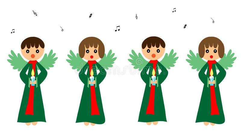 Sjungande änglar royaltyfri illustrationer
