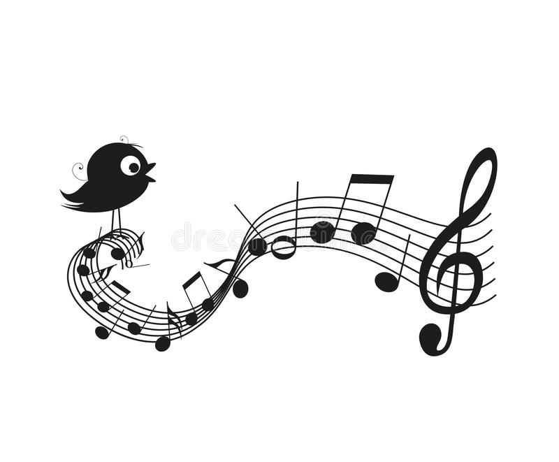 Sjungande fågel royaltyfri illustrationer