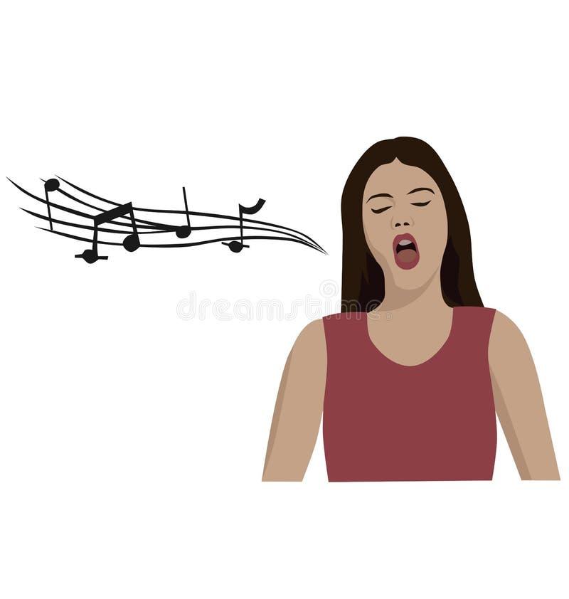 Sjungande opera för kvinna stock illustrationer