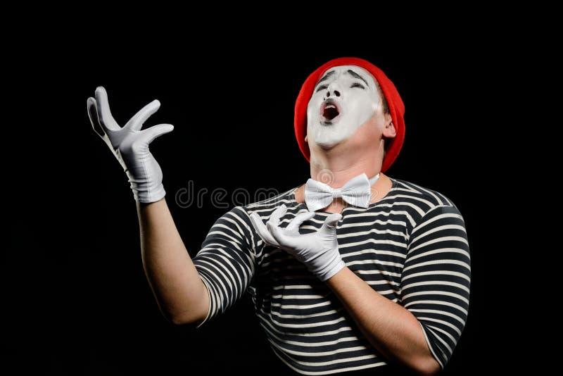 Sjungande opera för manlig fars royaltyfria bilder