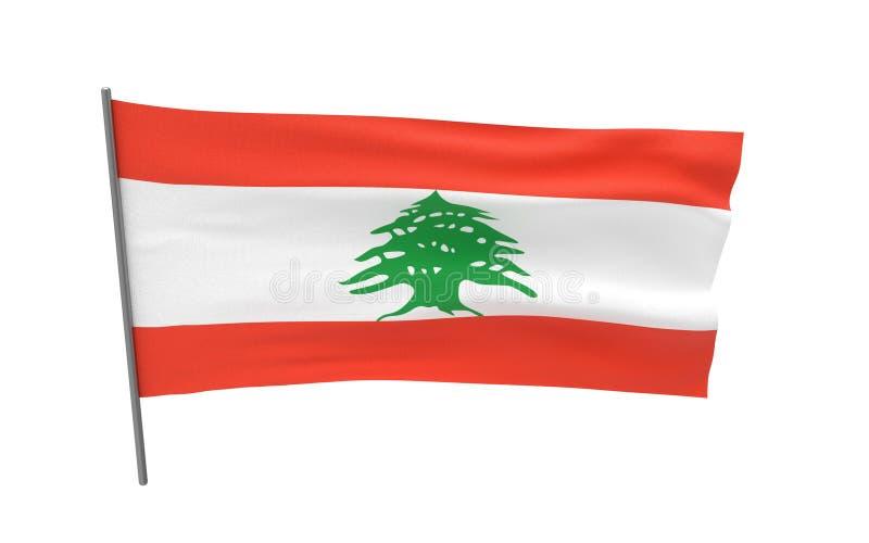 Sjunka av Libanon vektor illustrationer