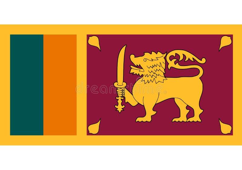 Sjunka av Sri Lanka royaltyfri illustrationer