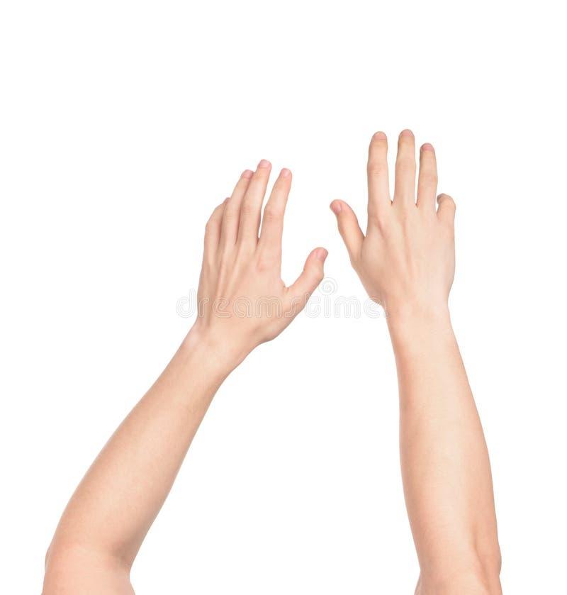 Sjunka händerna royaltyfria bilder