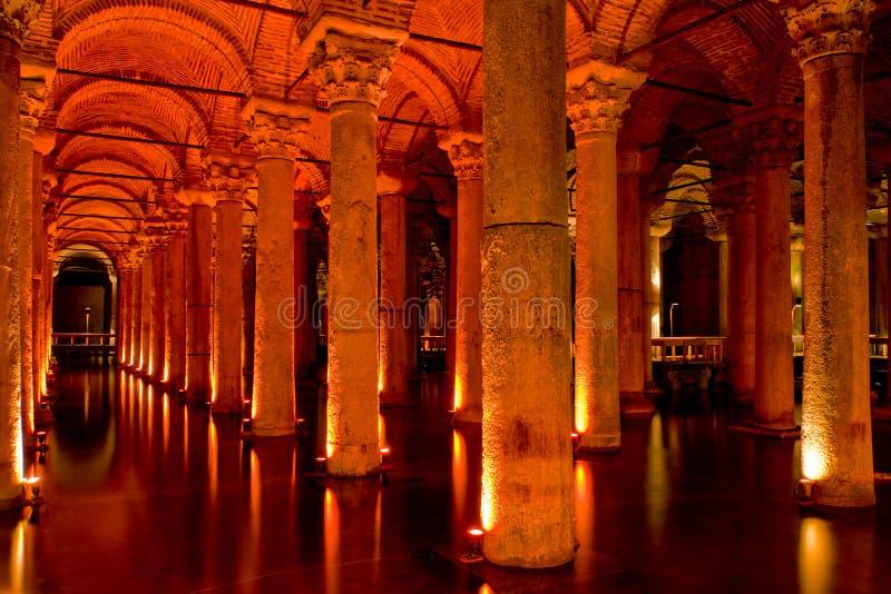 sjunken istanbul slott arkivfoto