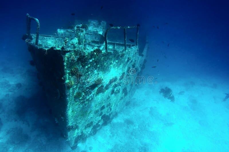 sjunken ship royaltyfri bild