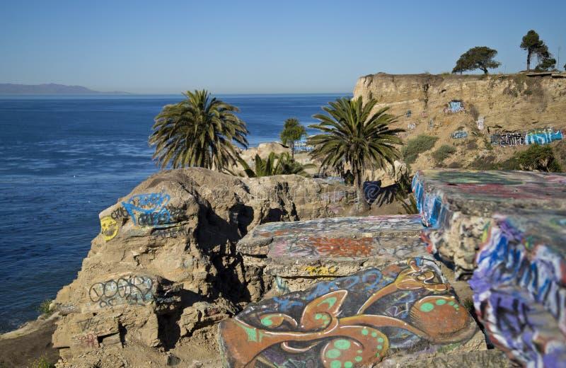 Sjunken stad i San Pedro, Kalifornien arkivfoto