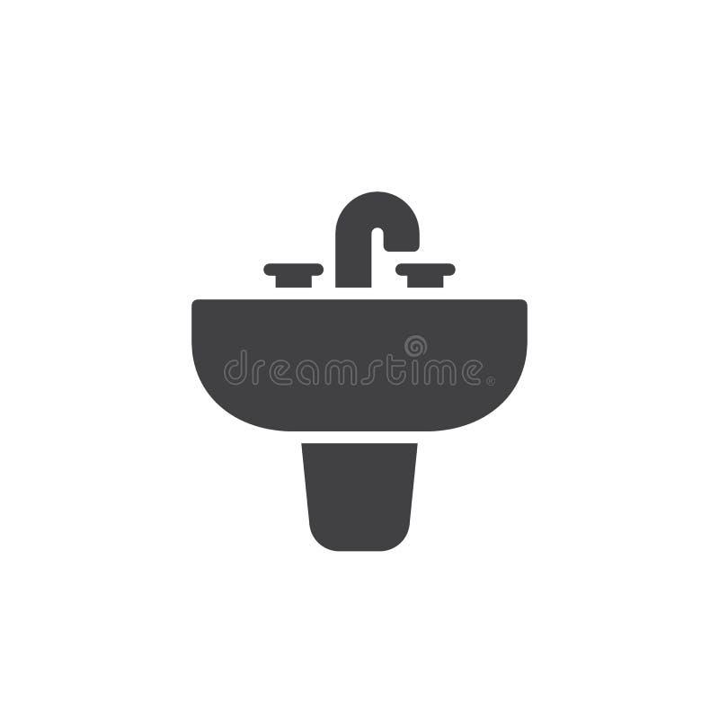 Sjunker vektorn för symbolen för hushållutrustning vektor illustrationer