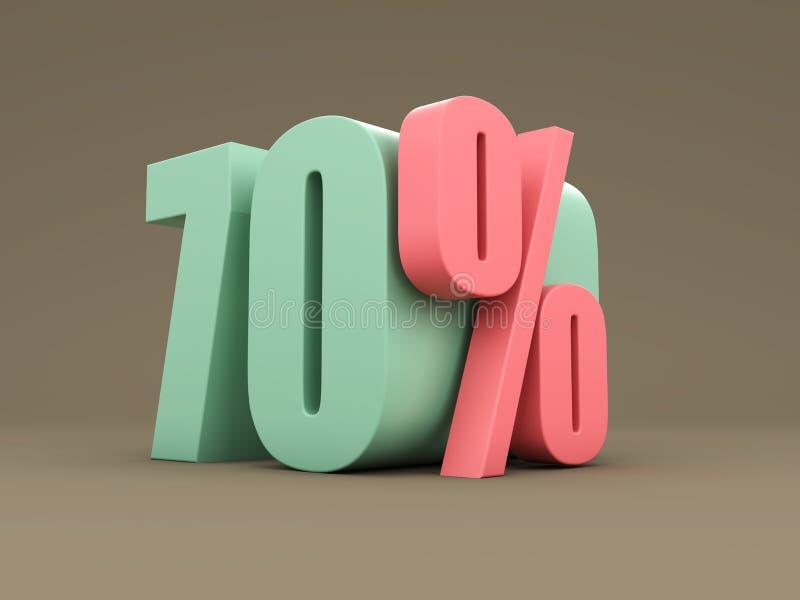 Sjuttio procent - rabatt royaltyfri illustrationer