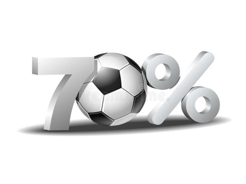 Sjuttio procent rabattsymbol stock illustrationer