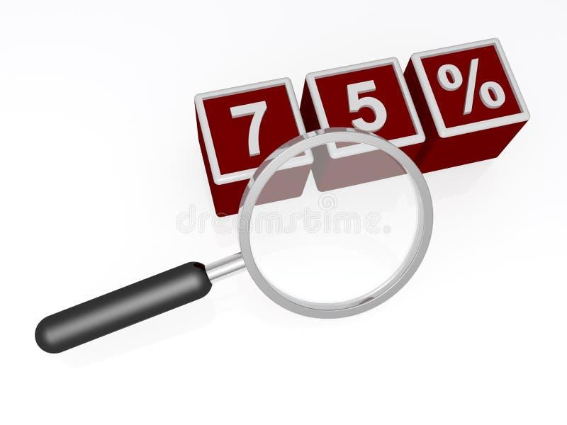 Sjuttiofem procent vektor illustrationer
