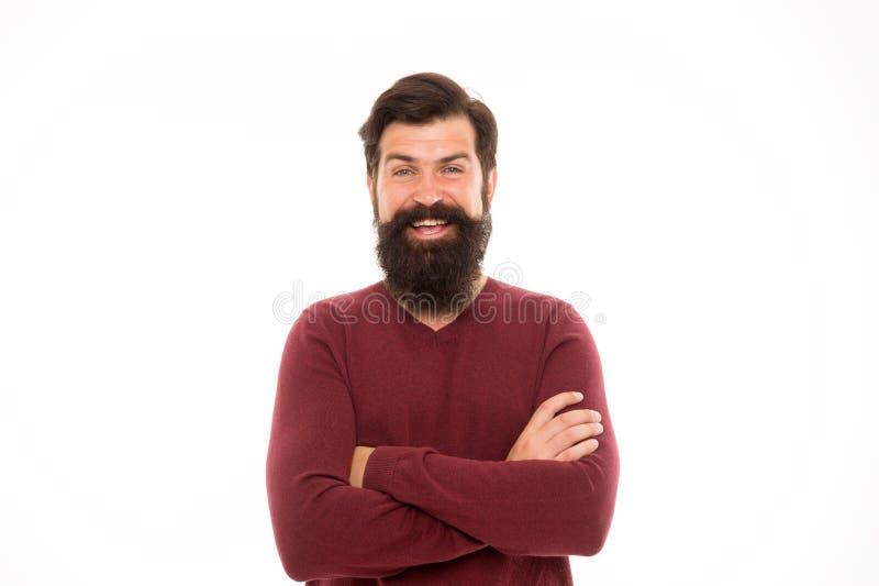 Skägghår växer på olika hastigheter Man med det långa skägget och mustasch isolerad vit bakgrund Att att växa det enorma skägget royaltyfria foton