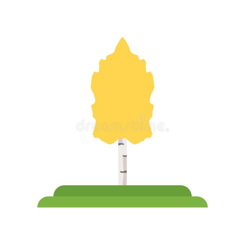 Skälva asp- tecken och symbol för trädsymbolsvektor som isoleras på vit stock illustrationer