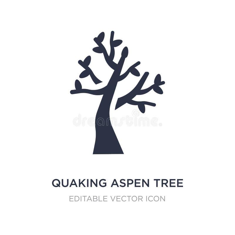skälva asp- trädsymbol på vit bakgrund Enkel beståndsdelillustration från naturbegrepp stock illustrationer